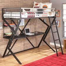 metal loft beds with desk modern home design