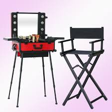 portable makeup chair with side table 1set lot lighting makeup table with portable chair makeup station
