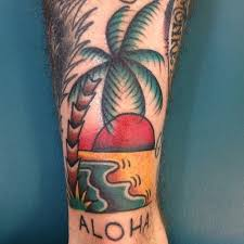 traditional palm tree tattoos photo pictures images and