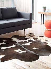 pouf en peau de vache tapis en peaux véritables en ligne simons