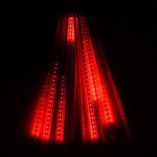 outdoor string lights rain waterproof 50cm 10 tube holiday meteor shower rain led string lights