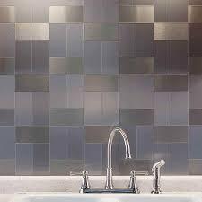 Ideas To Install Metal Tile Backsplash  Cabinet Hardware Room - Metal tiles backsplash