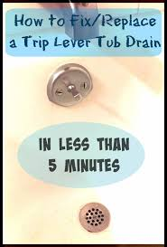 Removing A Bathtub Drain A Weeks Worth Of Bs How To Fix Your Trip Lever Tub Drain In 5 Minutes