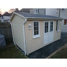 Garden Shed Summer House - wooden summer house garden shed garden studio office 2 4m 4 2m