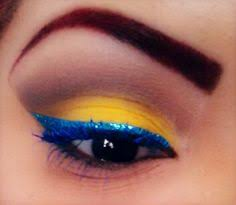 san diego chargers football makeup gold and blue glitter eyes