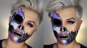 Halloween Skull Makeup Tutorial Glitter Skull Melting Makeup Tutorial Morphine Love Makeup Youtube