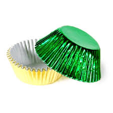 foil candy cups packaging supplies green gold foil candy cups 100 pack