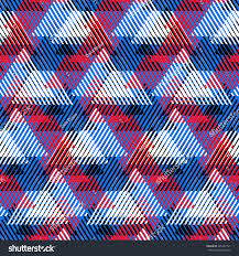 vector seamless geometric pattern striped triangles stock vector