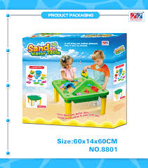 water table with cover hualian plastic sand and water beach square green table with cover