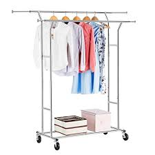 Amazon Com Langria Living Storage by Amazon Com Langria Double Rail Clothing Rack Commercial Grade
