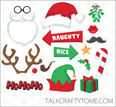 christmas photo booth props 101 days of christmas printable photo booth props roundup