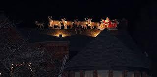 rooftop santa with sleigh and reindeer googleplex murals