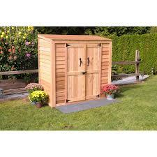 6 u0027 x 3 u0027 cedar garden storage shed