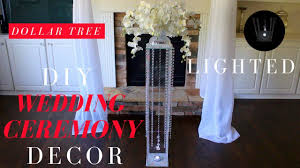 diy wedding ceremony decor dollar tree lighted wedding aisle