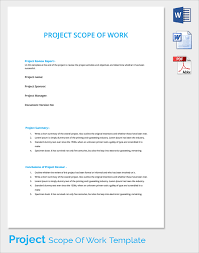 Scope Of Work Template Excel Project Scope Template