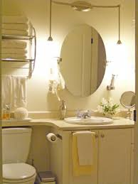 to mount oval mirrors in a bathroom