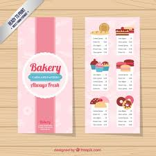 bakery menu template templates memberpro co