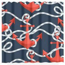 Navy And Red Shower Curtain Navy And Coral Shower Curtain Pmcshop
