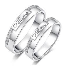 gold rings price images Heart of love white gold plated 925 sterling silver couple rings jpg
