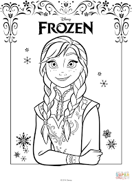 anna from the frozen movie coloring page free printable coloring