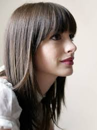 hairstyles for straight across bangs straight across bangs with long hair beauty and hair pinterest