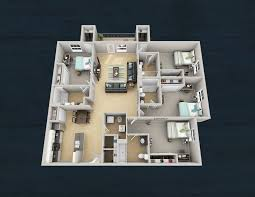 four bedroom four bedroom floorplans the boulevard at tallahassee
