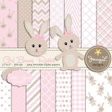rabbit baby shower bunny rabbit digital papers girl bunny clipart bunny baptism