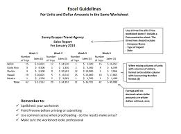1 3 formatting and data analysis beginning excel