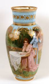 Chinese Hand Painted Porcelain Vases Hand Painted Royal Vienna Porcelain Urn Austria 20th C