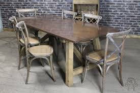 copper top restaurant table industrial look