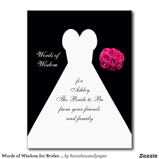 words of wisdom cards for bridal shower words of wisdom for brides post card bridal gown bridal shower