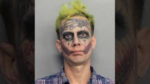 halloween costumes with tattoos man with u0027joker u0027 face tattoos arrested for second time in a week