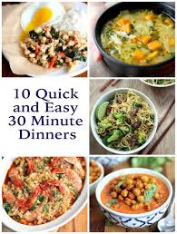 Fabulous Dinner Ideas 10 Quick And Easy 30 Minute Dinners Dinners Recipe Community