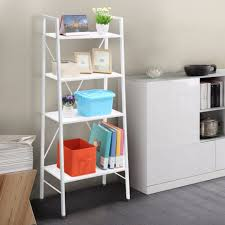 Ladder Shelving Unit Furniture Home Clear Acrylic Book Display Shelves For Stand