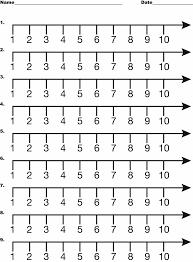 number line 1 10 clipart etc