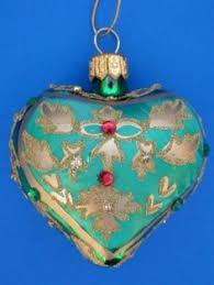 g debrekht ornament nativity glass heart retired mint holiday