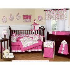 Pink And Green Crib Bedding Sweet Jojo Designs Pink And Green Circles 9 Crib Bedding Set