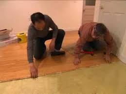 How To Lay Laminate Flooring Youtube - how to lay a floating floor this old house youtube