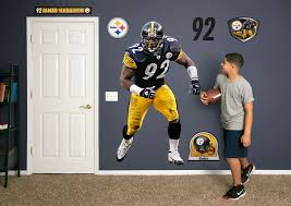 life size james harrison fathead wall decal shop pittsburgh