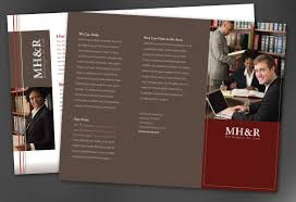 tri fold brochure template for design for attorney and legal firms