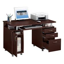 monarch cappuccino 48 in computer desk with 2 drawer computer