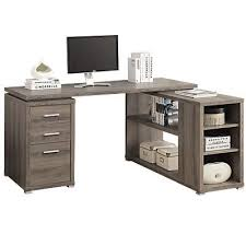 bureau taupe xx l shaped desk taupe wood 89060 98 i 7319 fournitures
