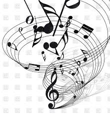 vortex of musical notes tune vector clipart image 85586 u2013 rfclipart