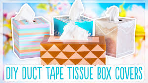 diy duck tape tissue box covers youtube