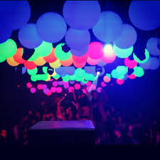 glow in the party supplies disco party decorations neon glow balloons party supplies