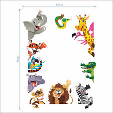 aliexpress com buy cartoon tiger lion dinosaur wall stickers