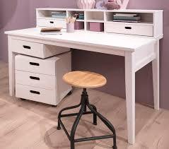 Schreibtisch 130 Cm Welle Lumio Massivholz Schreibtisch Weiß Mit Schreibtischaufsatz