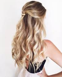 loose curls half up 1000 ideas about half up half down on