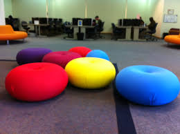 comfy library chairs colorful chairs at florida international university bbc cus