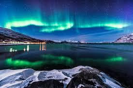 sky northern colours sky nature lights wallpaper sunset hd